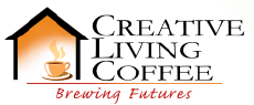 creative living coffee logo